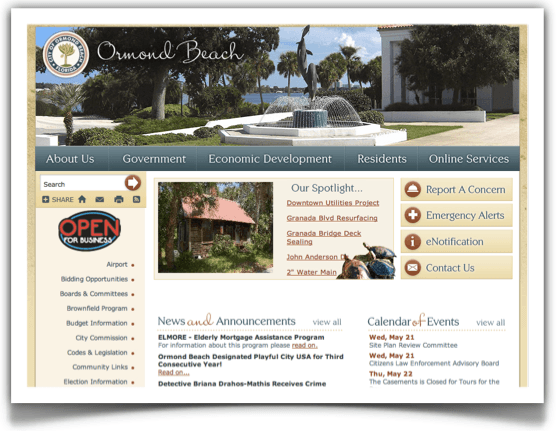 Exploring the City of Ormond Beach Website - ormondbeachdotorg