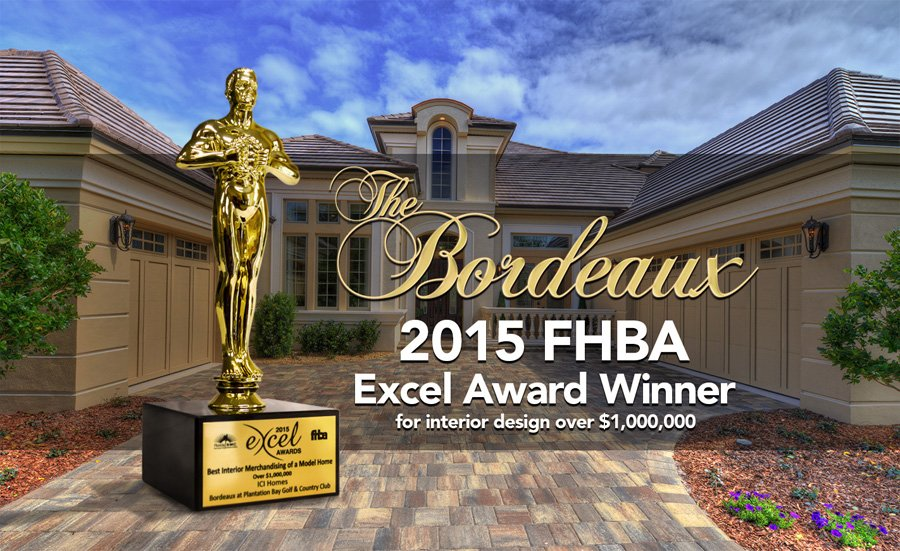 ICI Homes Wins Excel Award for Design Excellence - bordeaux award