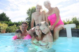 Multi Generation Family at the Pool