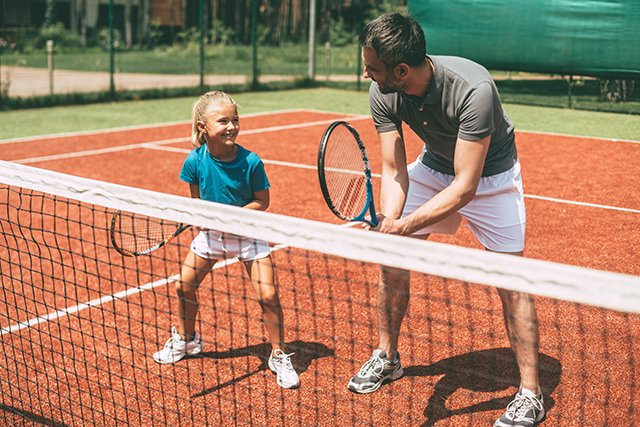 Tennis for the family at Plantation Bay