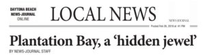 Plantation Bay, a 'hidden jewel' Daytona Beach News Journal Article - pB hidden jewel