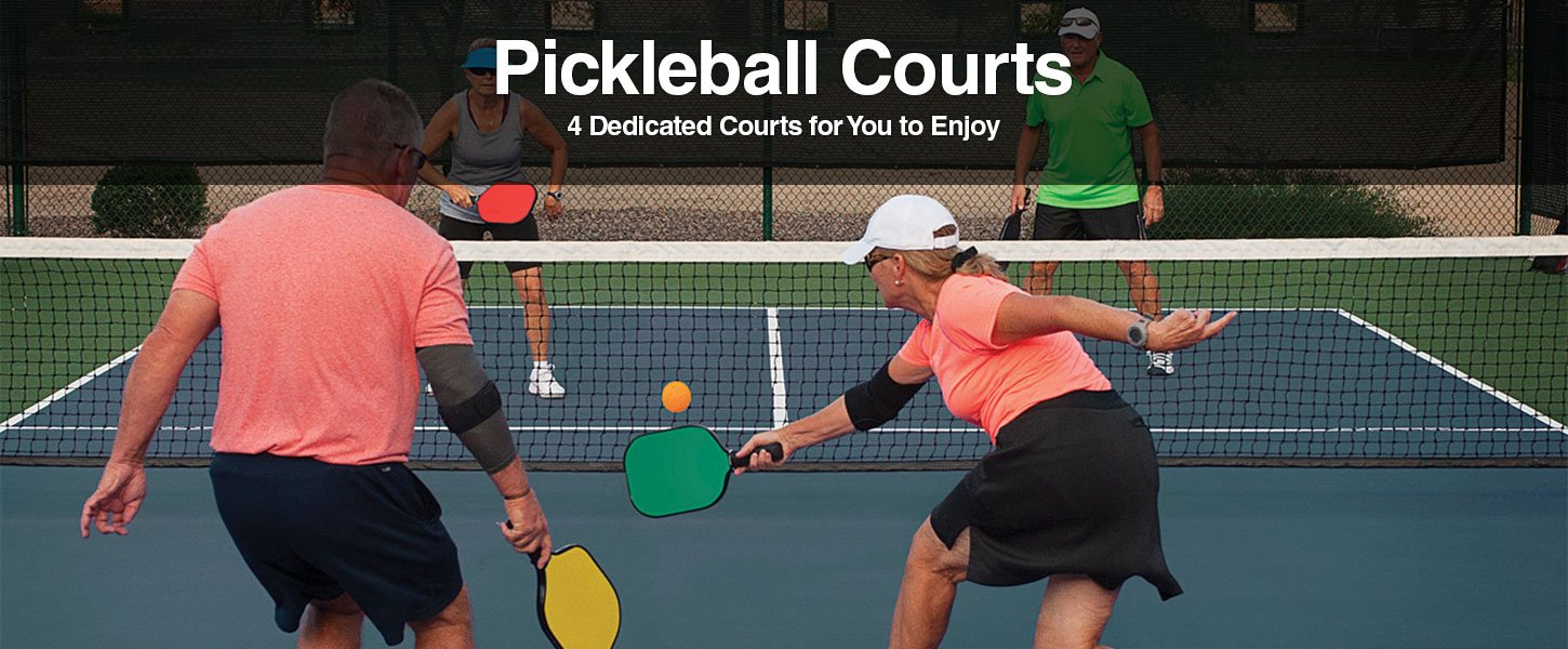 4 Pickleball Courts