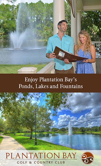 Plantation Bay Water: Ponds, Lakes and Fountains